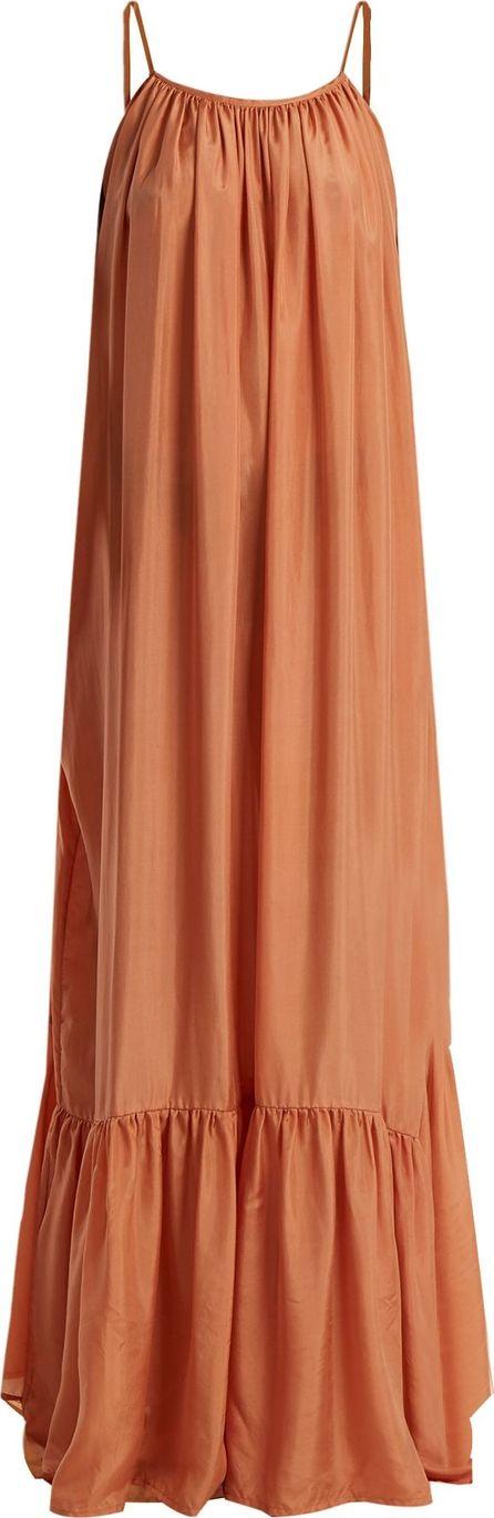 Kalita Brigitte silk-habotai maxi dress