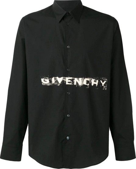 Givenchy Logo stamped button down
