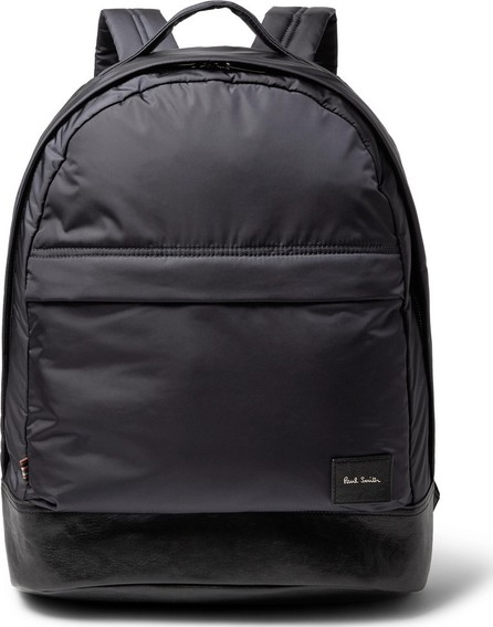 Paul Smith Leather-Trimmed Shell Backpack