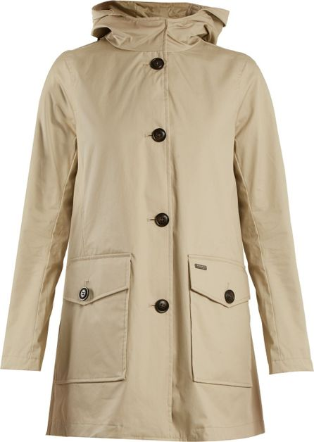 Woolrich Lightweight coated-cotton hooded coat