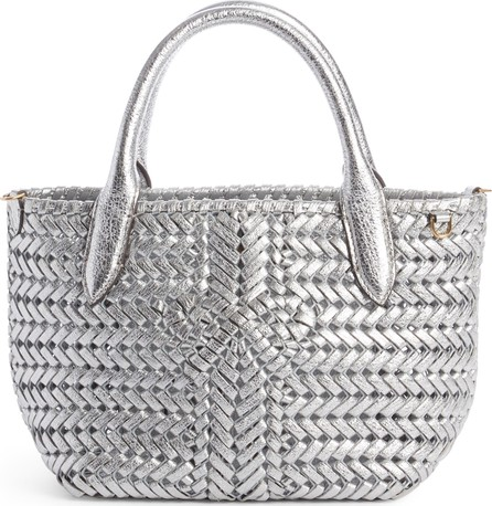 Anya Hindmarch Mini Neeson Woven Metallic Leather Tote