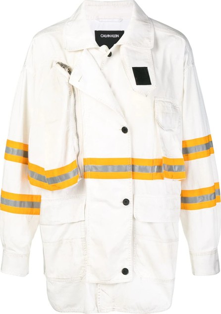 Calvin Klein 205W39NYC contrast panelled rain coat