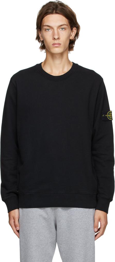 Stone Island Black Cotton Sweatshirt