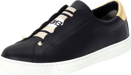 Fendi Rockoko Leather Slip-On Skate Sneakers