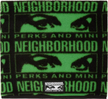 Perks and Mini Black & Green Neighborhood Edition Fleece Scarf