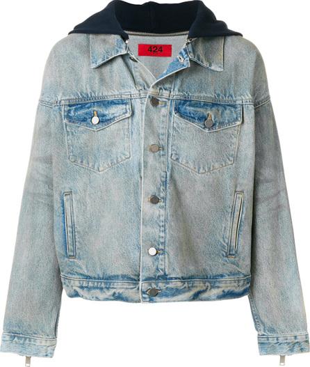 424 Fairfax Hooded denim jacket
