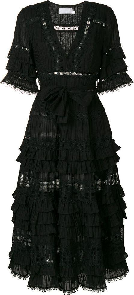 Zimmermann frill pleated dress