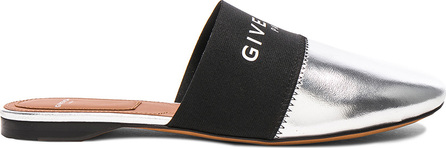 Givenchy Leather Bedford Logo Trim Flat Mules