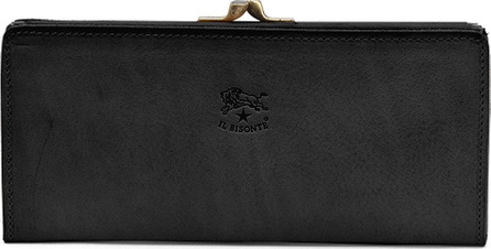 Il Bisonte Soft Leather Continental Wallet, Black