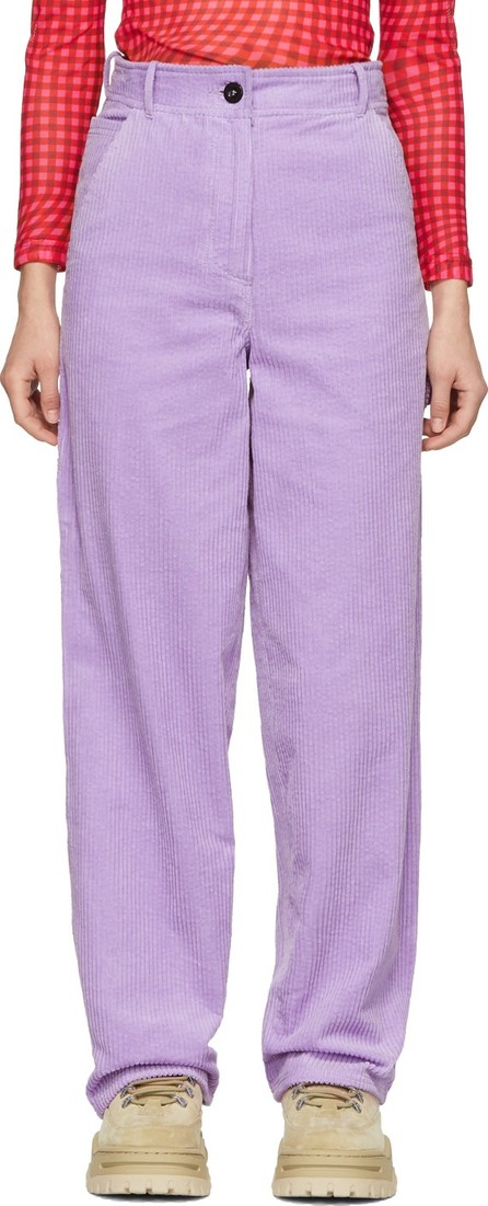 Ashley Williams Purple Work Trousers