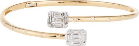Andreoli Diamond Bypass Bracelet in 18k Yellow Gold