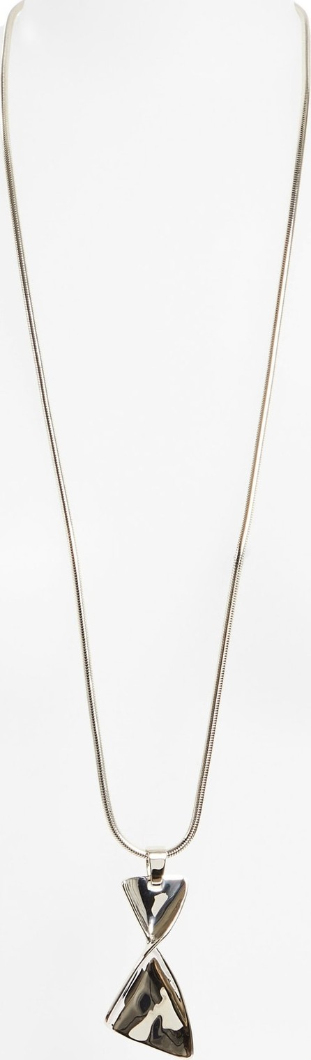 St. John Twist Metal Long Pendant Necklace