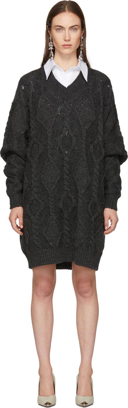 Isabel Marant Grey Wool Bev Dress