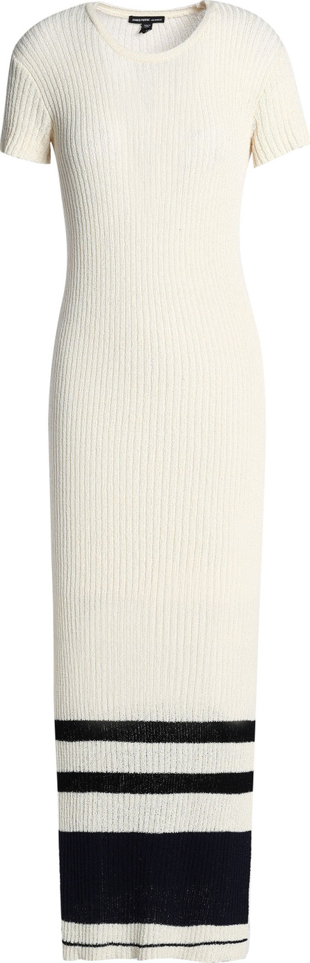 James Perse Striped ribbed cotton-blend maxi dress