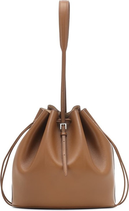 Jil Sander Medium drawstring leather bucket bag