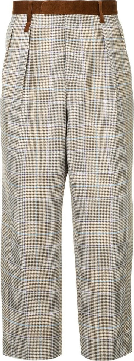 A(Lefrude)E Checked trousers