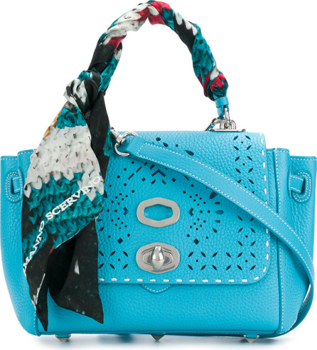 Ermanno Scervino Scarf-wrapped pointelle detail shoulder bag