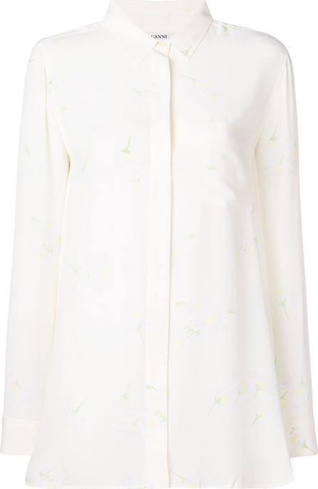 Ganni Floral silk shirt