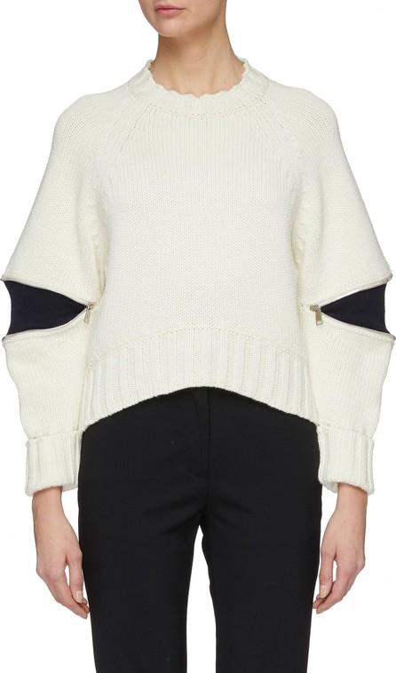Alexander McQueen Zip elbow gusset wool sweater