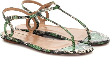 Aquazzura Almost Bare snakeskin sandals