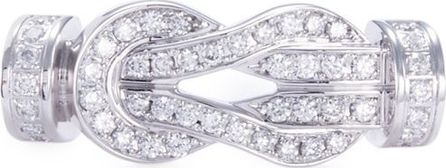 Fred '8°0' diamond 18k white gold medium buckle