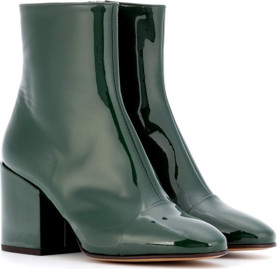Dries Van Noten - Patent leather ankle boots