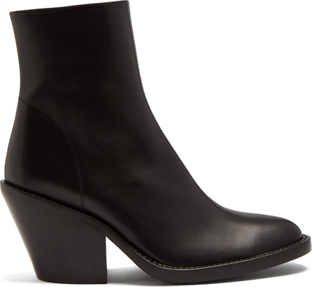 Ann Demeulemeester Round-toe leather boots