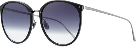 Linda Farrow Acetate & Titanium Gradient Butterfly Sunglasses