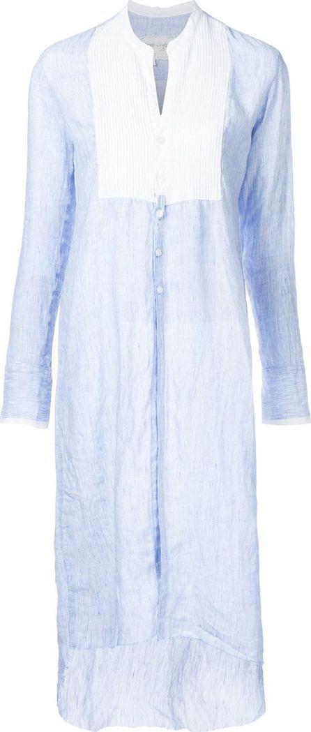 Greg Lauren contrast bib shirt dress