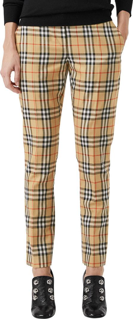 Burberry London England Hanover Plaid Wool Cigarette Pants