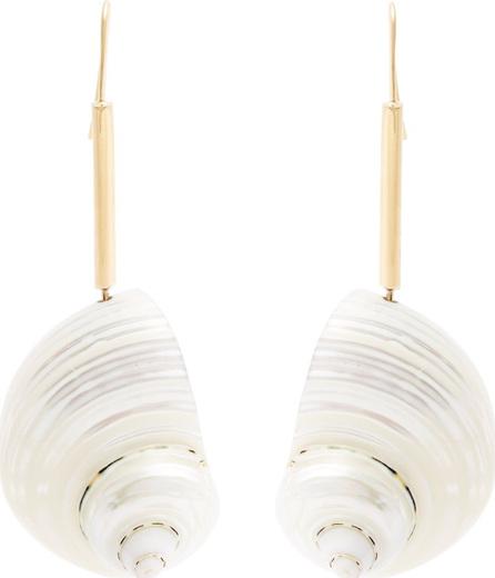 LOEWE Shell-drop earrings