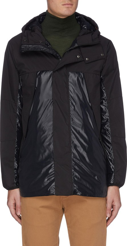 Save The Duck Panelled hooded shell jacket