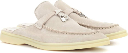 Loro Piana Babouche Charms suede slippers