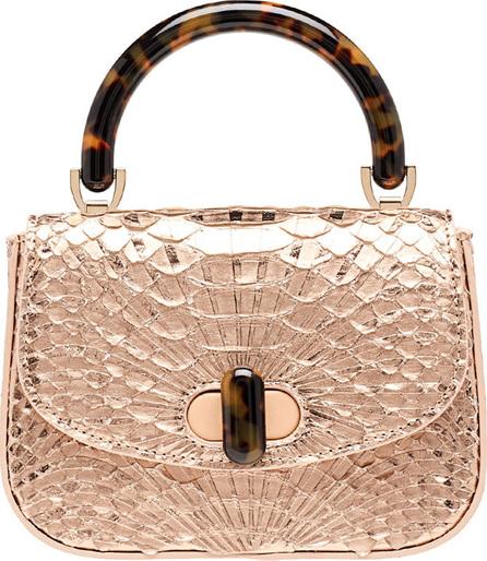 Edie Parker Python Mini Top Handle Bag