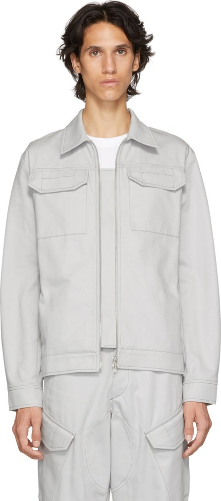 Affix Grey Two-Way Zip Service Jacket