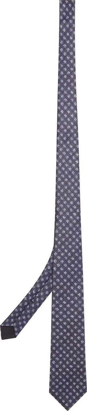 Bottega Veneta Checked silk tie