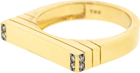 Sorellina 18kt yellow gold diamond Ti Amo Stacking ring