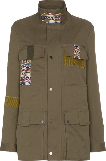78 Stitches Military jacket with patches