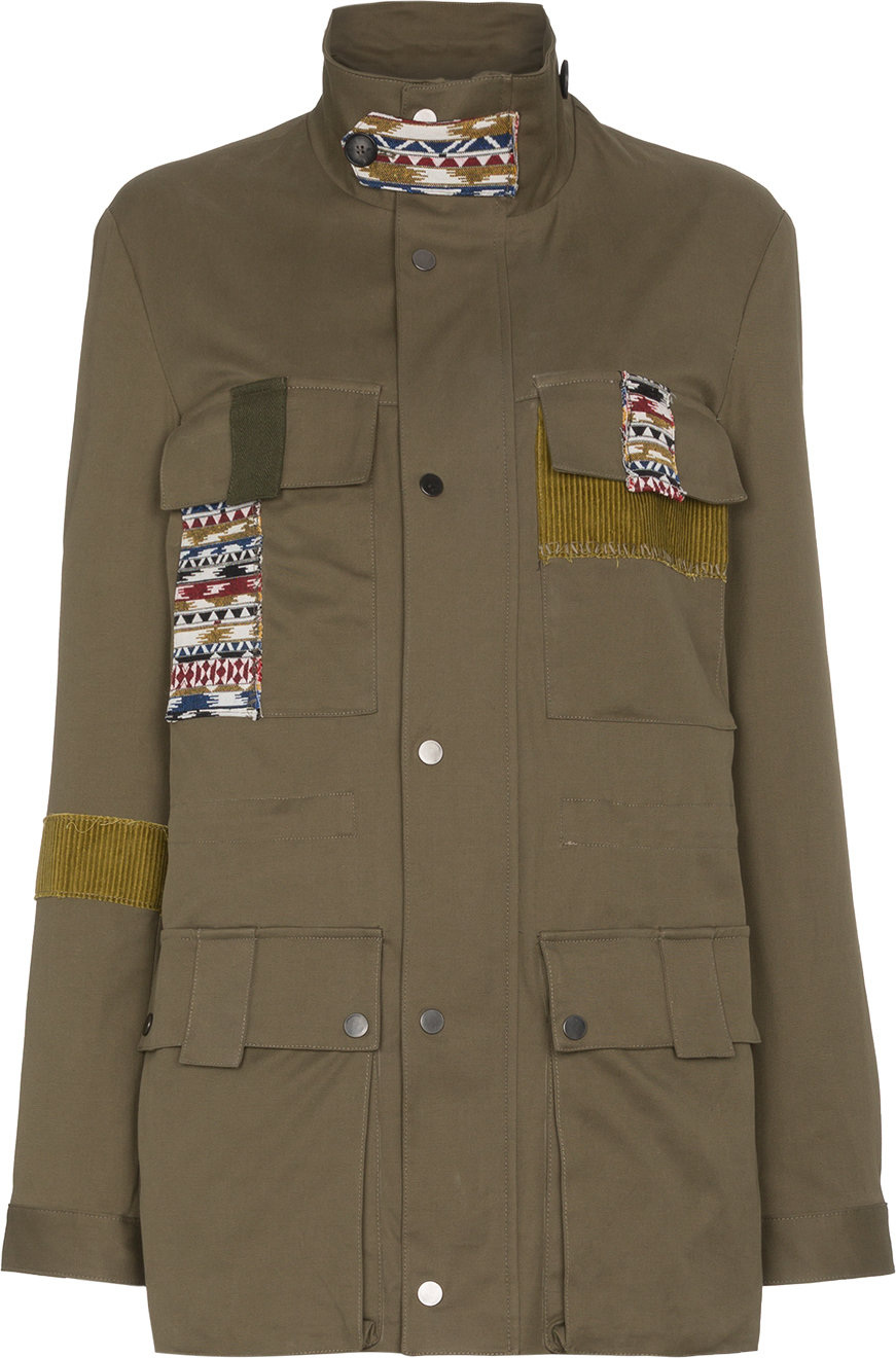 78 Stitches - Military jacket with patches