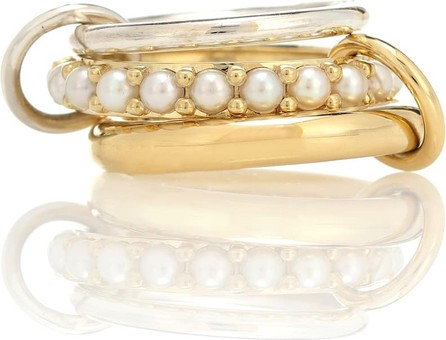 Spinelli Kilcollin Akoya 18kt gold ring with pearls