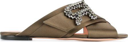 ROCHAS Crossover strap embellished sandals