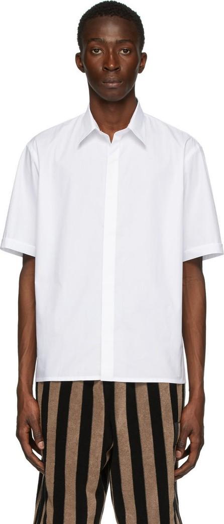 Fendi White Cotton Poplin T-Shirt