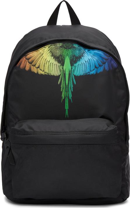 Marcelo Burlon Black Rainbow Wing Backpack