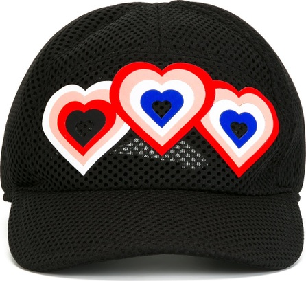 Fendi heart patch cap