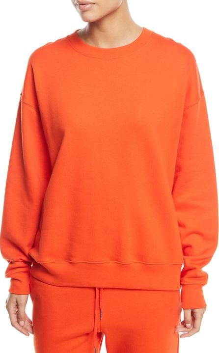 Elizabeth And James Lia Crewneck Long-Sleeve Cotton Sweatshirt