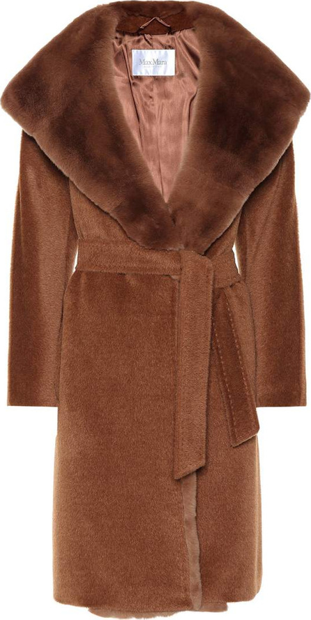 Max Mara Sublime fur-trimmed alpaca and wool coat
