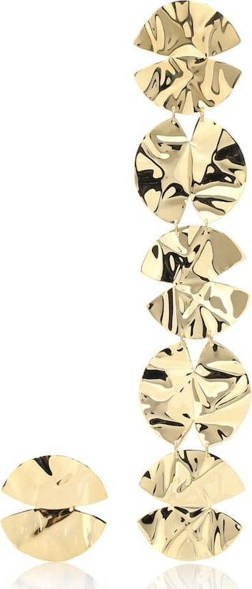 Anissa Kermiche Architect asymmetrical 18k gold-plated earrings