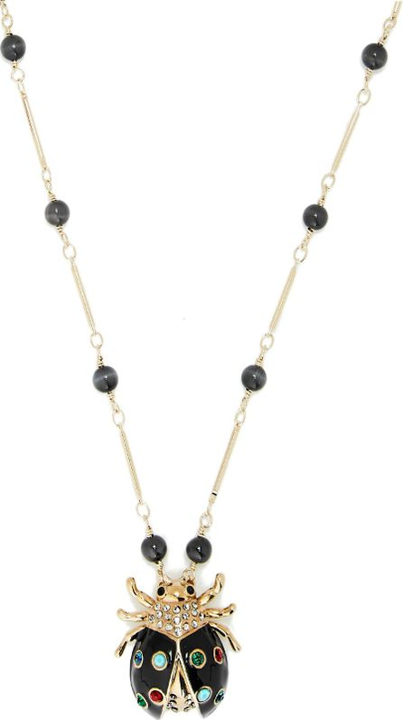 Etro Crystal-embellished ladybird pendant necklace