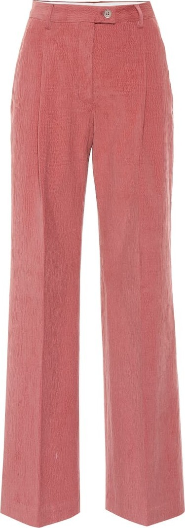 Acne Studios Textured stretch-cotton flared pants