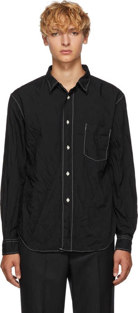 Comme des Garçons Homme Deux Black Wrinkled Shirt